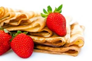 Crêpes Bretonnes et fraises de Plougastel